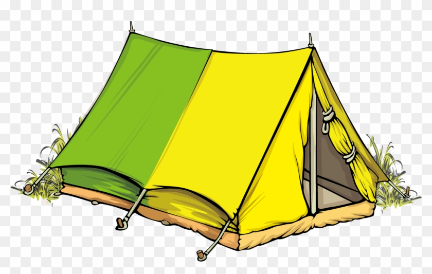Tent Camping Illustration - Tents Cartoon Png #1107696
