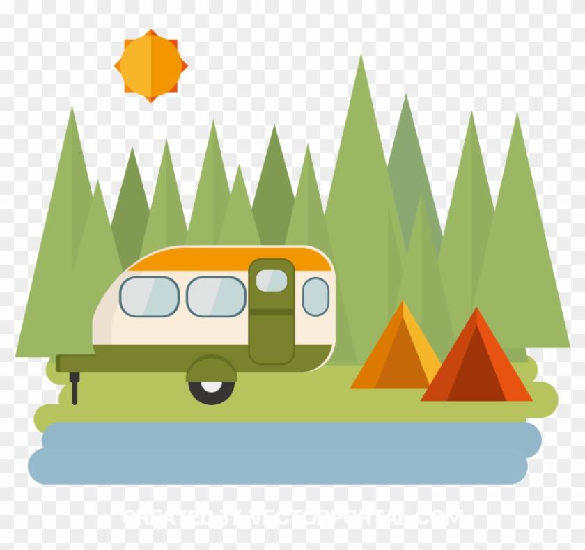 Camping Tent Clip Art - Camping Tent Vector Png #1107711