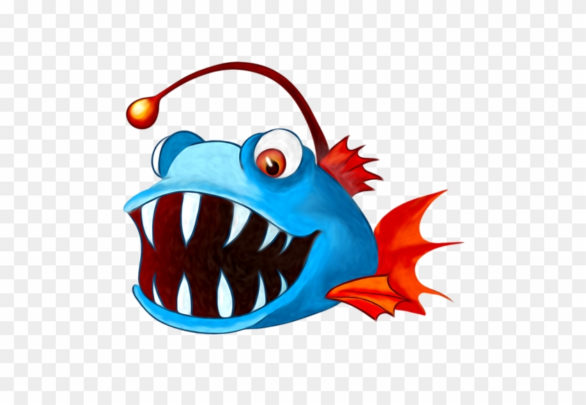 Animales Infantiles Pez Piraña - Angler Fish Clipart Png #1109653
