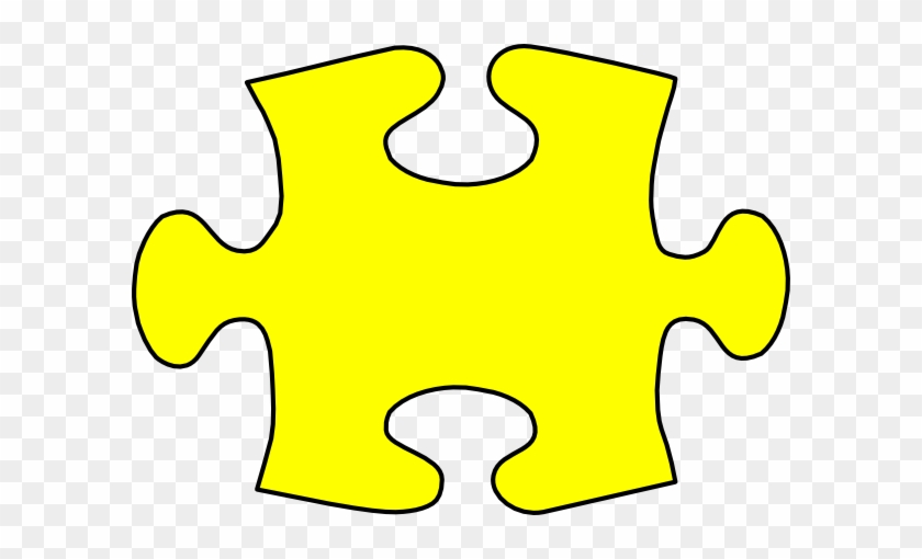 Yellow Jigsaw Puzzle Piece Large Clip Art At Clker - Jigsaw Puzzle Piece Yellow #1109944