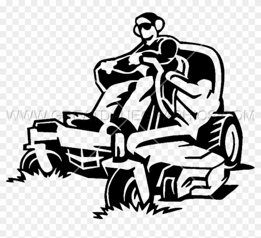 man mowing lawn silhouette at getdrawings com free - mower clip art black and white