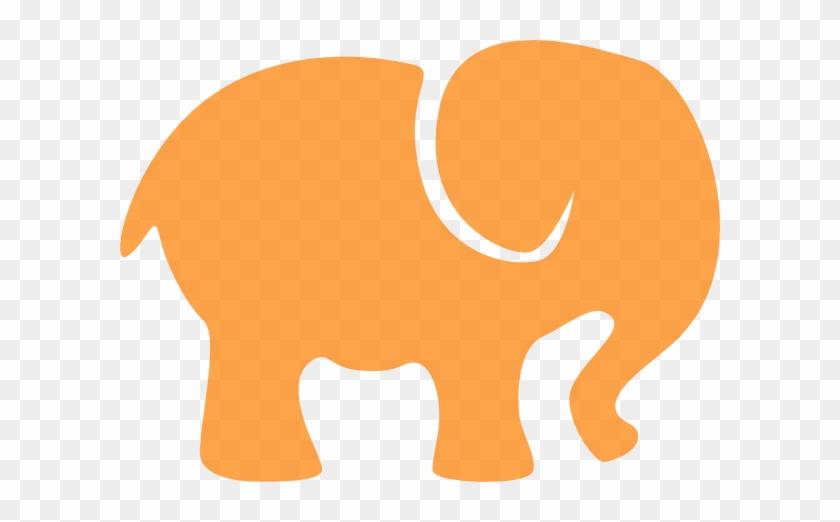 Orange White Elephant Clip Art At Clker Com Vector - Elephant Silhouette Clip Art #1111055