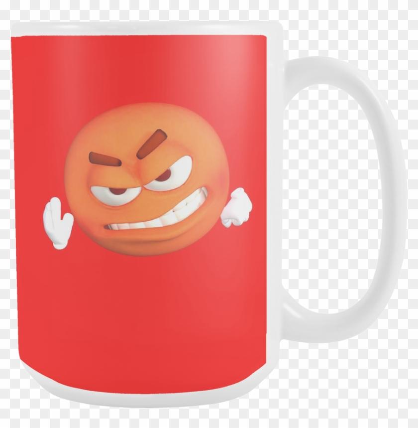 Dreamoctane 15oz Angered Emoji Mug - Coffee Cup - Free Transparent