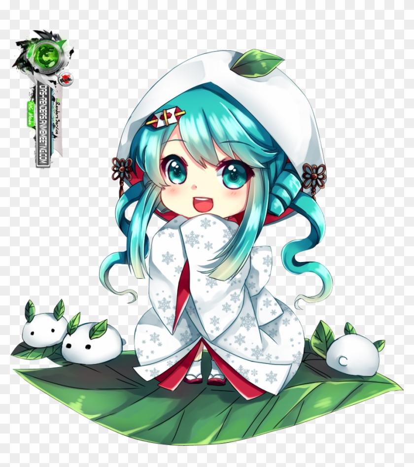 Hatsune Miku Chibi Vocaloid Anime Lily