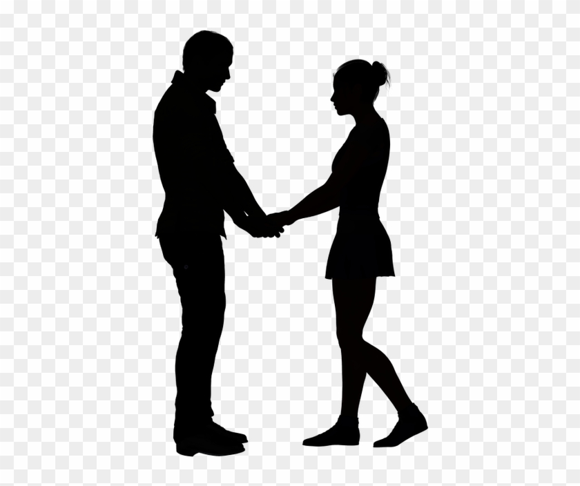 10 First Date Tips For Men - Boy And Girl Holding Hands Silhouette #1112364