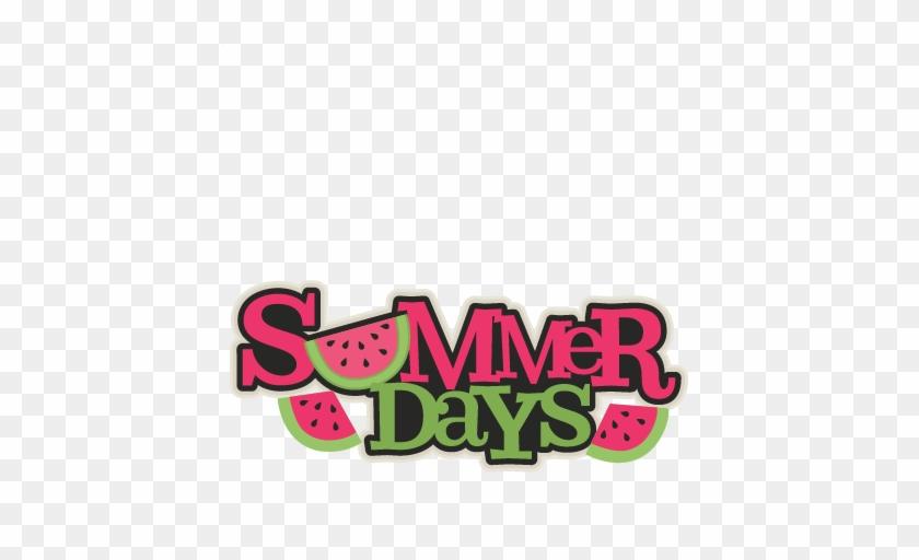 Summer Days Title Svg Scrapbook Cut File Cute Clipart - Free Clipart Summer Days #1113096