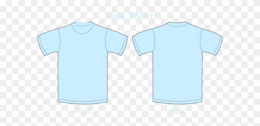 Polo Shirt Clipart Baby Blue - Light Blue Shirt Front And Back #1115533