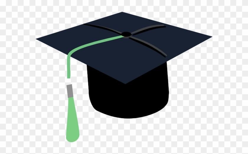 Graduation Cap Green Tassel #1116219