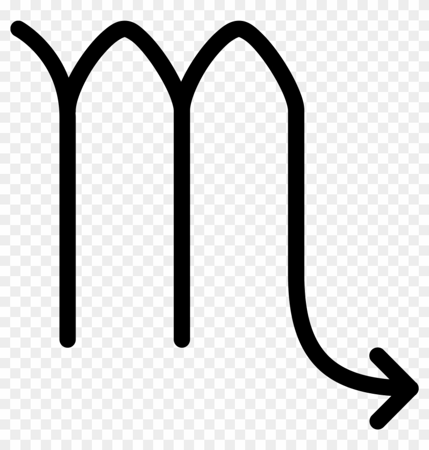 This Icon Looks Like Lower Case Alphabet M For Which - Scorpio Astrology Png #1116782