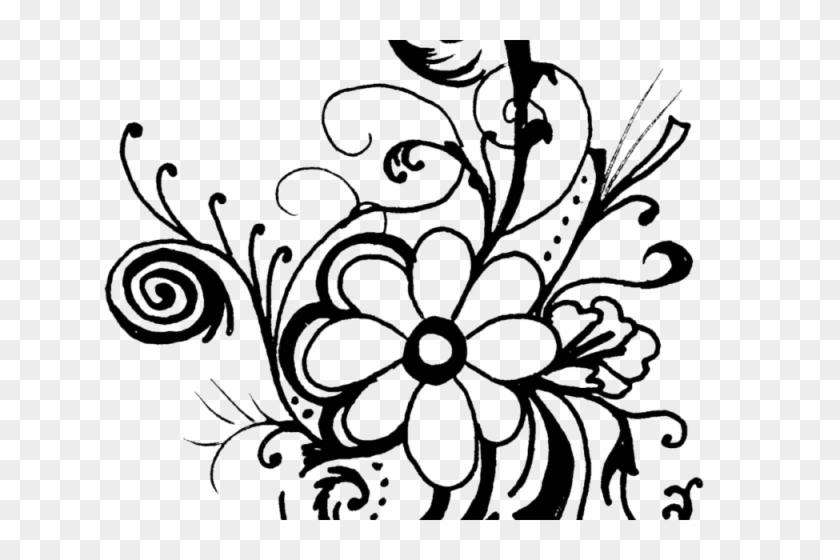 Black Flower Clip Art 13 Desktop Background Flower Clipart Black And White Free Transparent Png Clipart Images Download