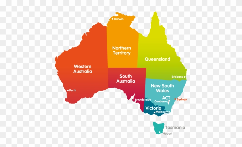 Map Of States Of Australia.Map Of Australia With States Territories And Capital Map Australia