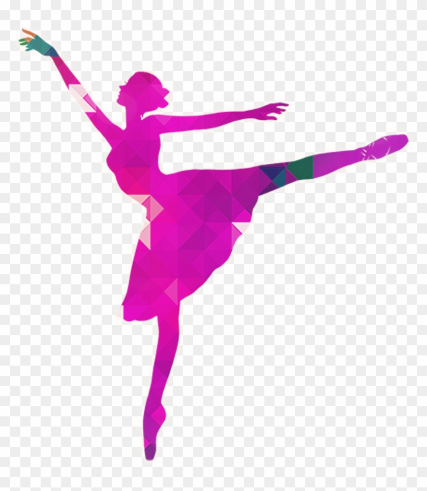 Ballerine Clipart Pink Silhouette Colorful Silhouette Dance Png Free Transparent Png Clipart Images Download