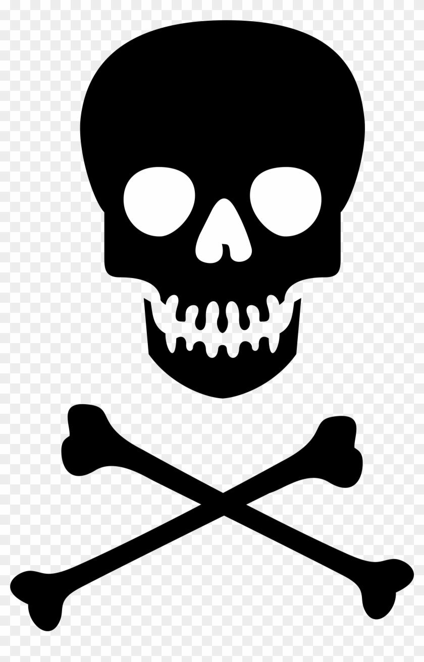 Clipart Skull Clipart - Skull And Cross Bones Png #1118005