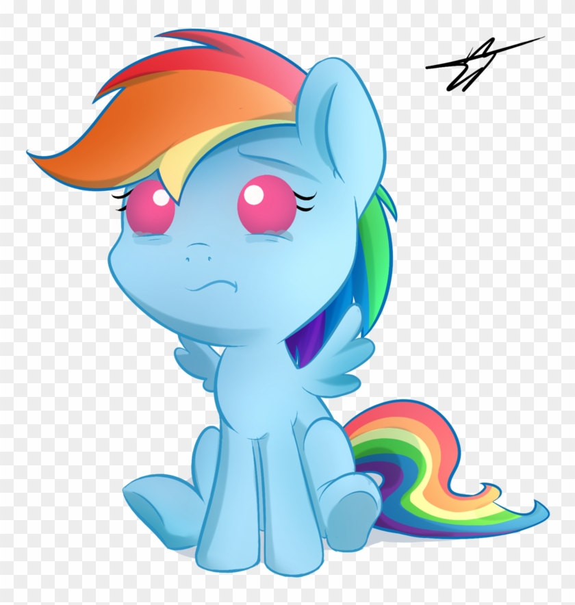 Kyodashiro, Baby, Baby Pony, Crying, Female, Filly, - Mlp Baby Rainbow Dash  - Free Transparent PNG Clipart Images Download