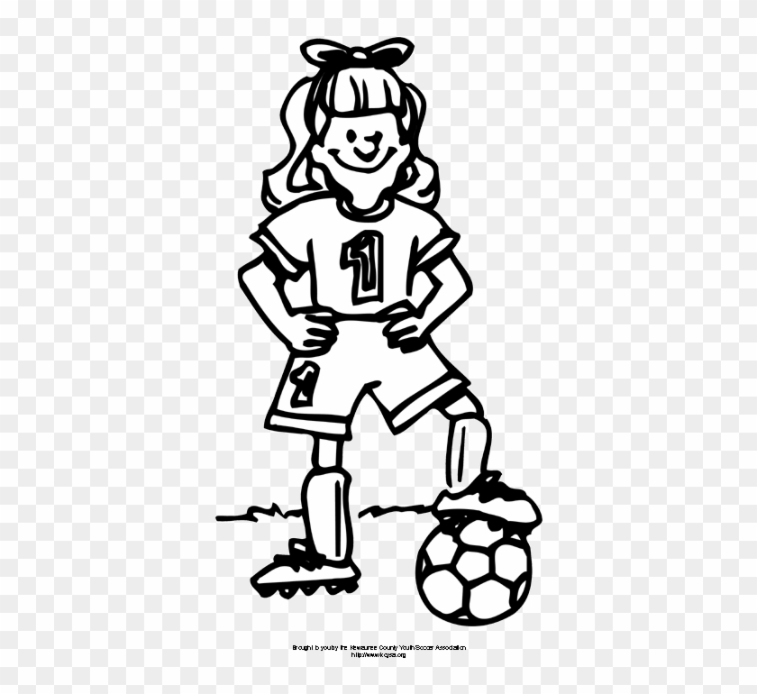 Coloring Pages Soccer Girl Girl Soccer Player Free Transparent