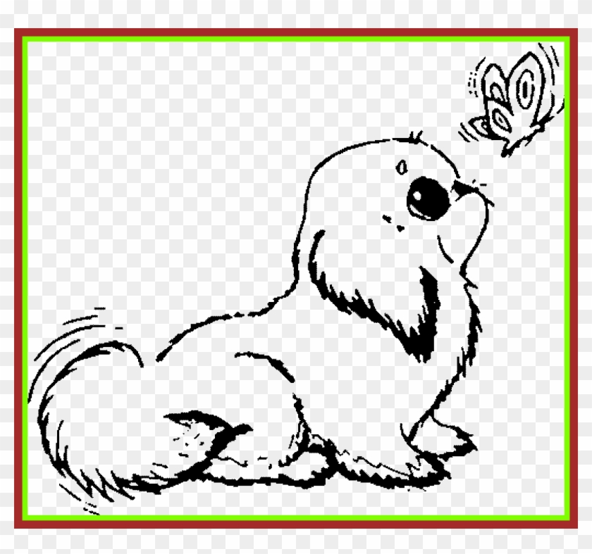 Drawing Charming Pictures Of Puppies To Color 12 Shocking