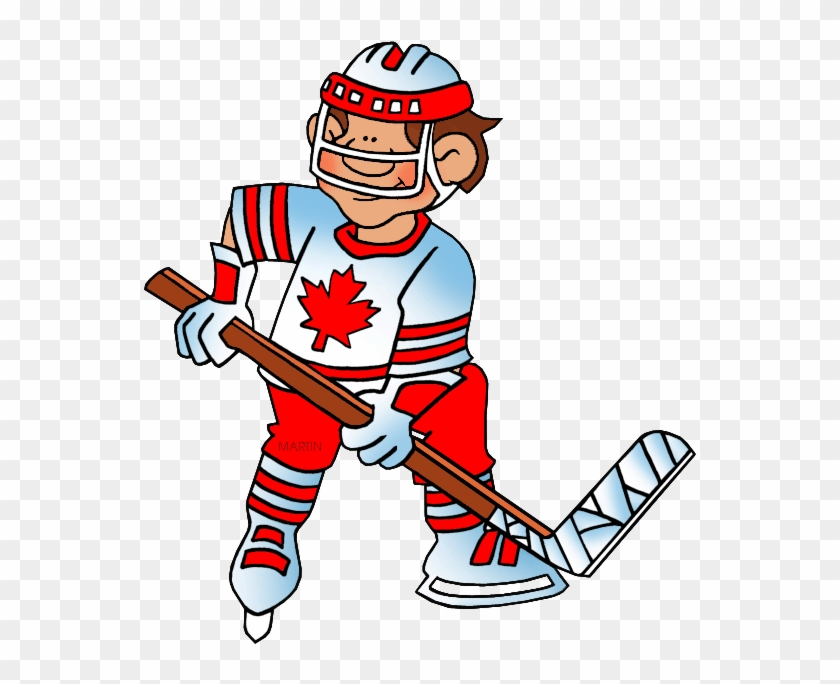Games Clip Art By Phillip Martin, Hockey - Hockey Player Clip Art #1121106