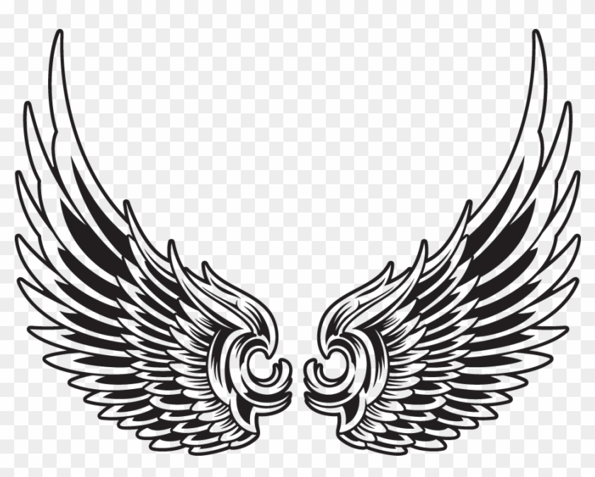 original art wings draping eagle wings vector tattoo free transparent png clipart images download original art wings draping eagle