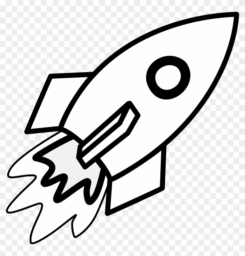 Rocket Clipart Black And White - Rocket Coloring Pages ...