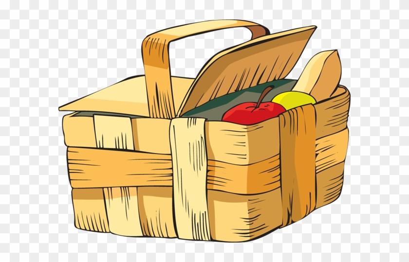 Clip Art Of A Picnic Basket Dixie Allan 3tzjco Clipart - Picnic Basket Clip Art Png #1123363