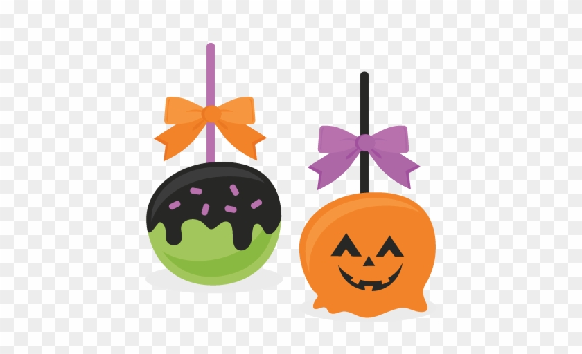 Candied Apples Svg Scrapbook Cut File Cute Clipart - Halloween Candy Apples Clipart #1125195