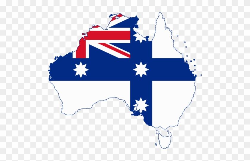 Flag Map Of Australia Federation Of Australia Map Free