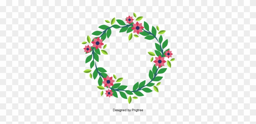 Beautiful Hand Paint Watercolor Floral Wreath, Flower, - Wreath #1125712