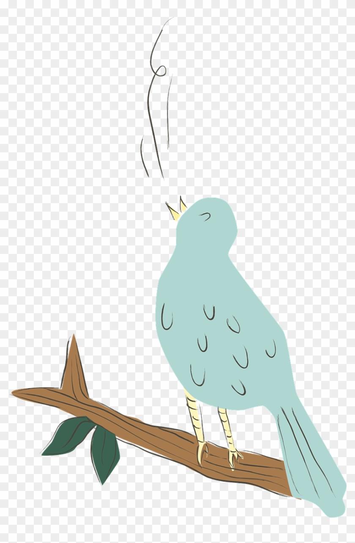 Inspiring Singing Bird Clip Art Medium Size Gambar Kartun