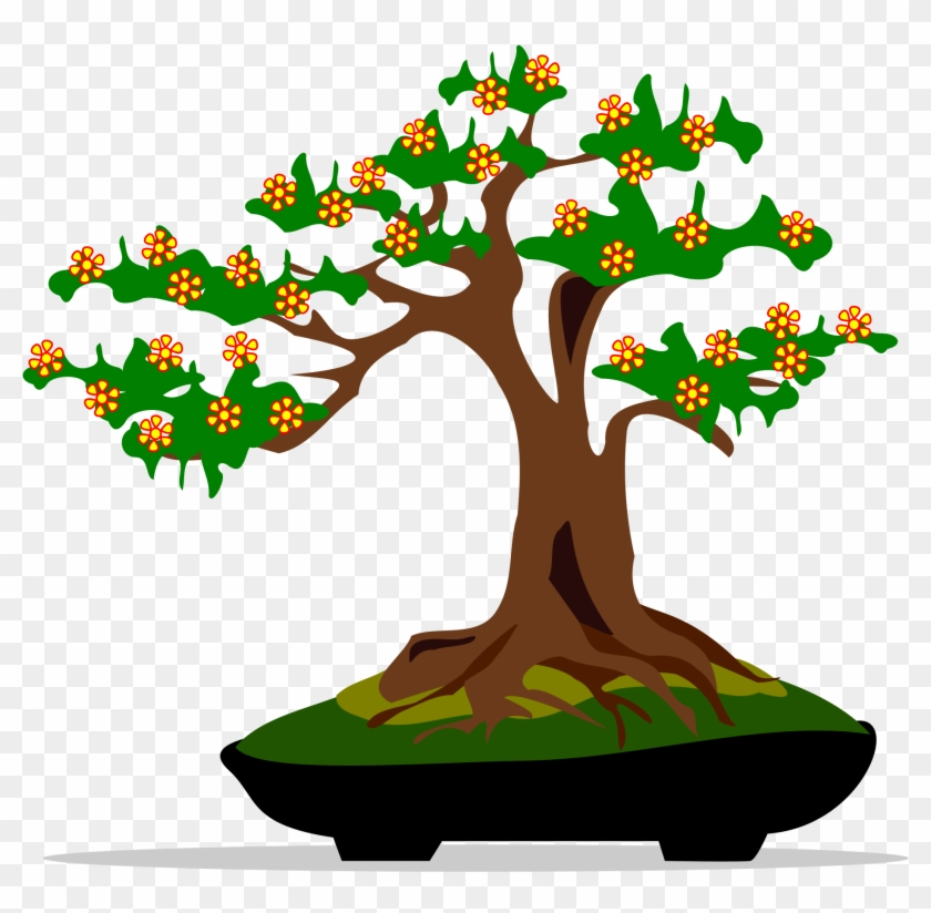 Cute Bonsai Tree Clip Art - Bonsai Tree Clip Art #1126228