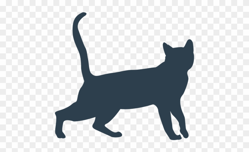 Cat Walking Silhouette Transparent Png - Cat Walking Silhouette #1126467
