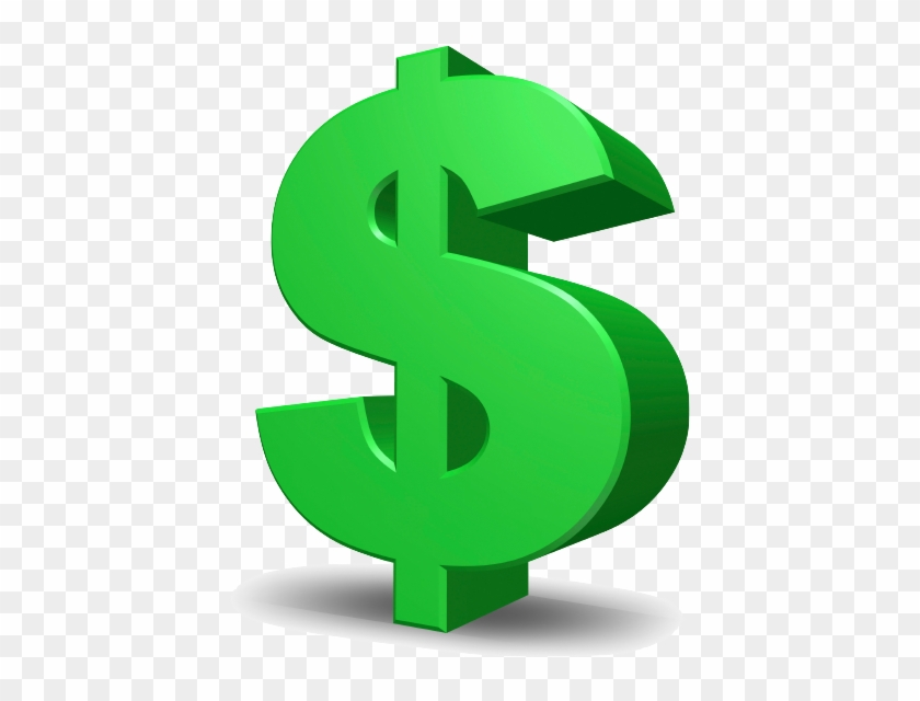 Green Dollar Signs Png Download - Dollar Sign - Free