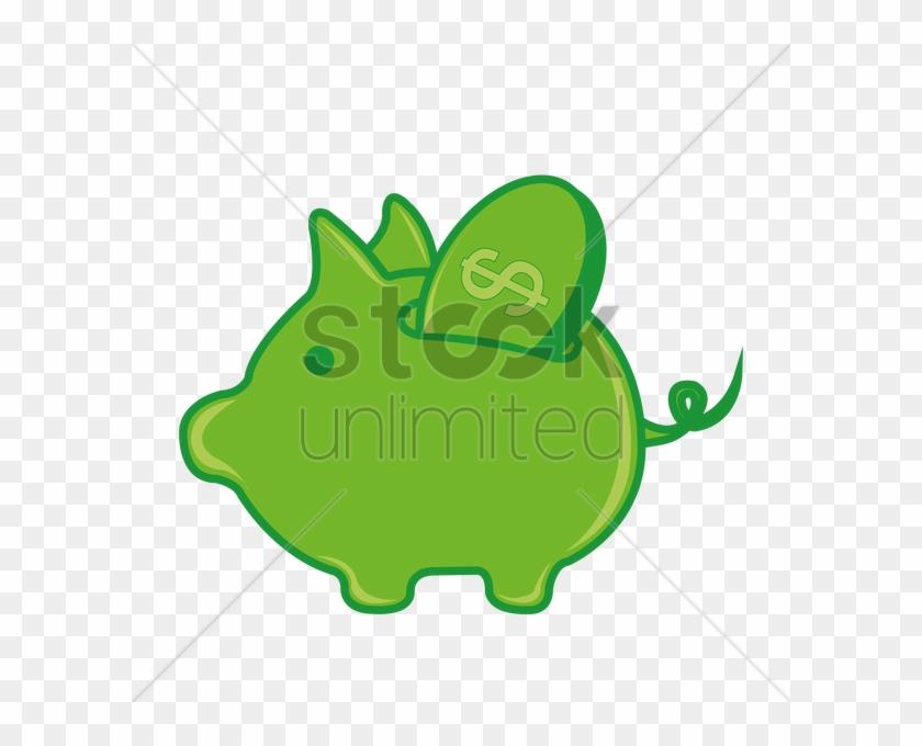 Piggy Bank Dollar Sign Icon Premium Green Round Button