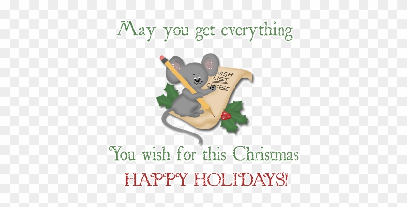 And I'd Also Like To Thank Him For Being My One And - Happy Holidays Images Wishes Animated #1126779