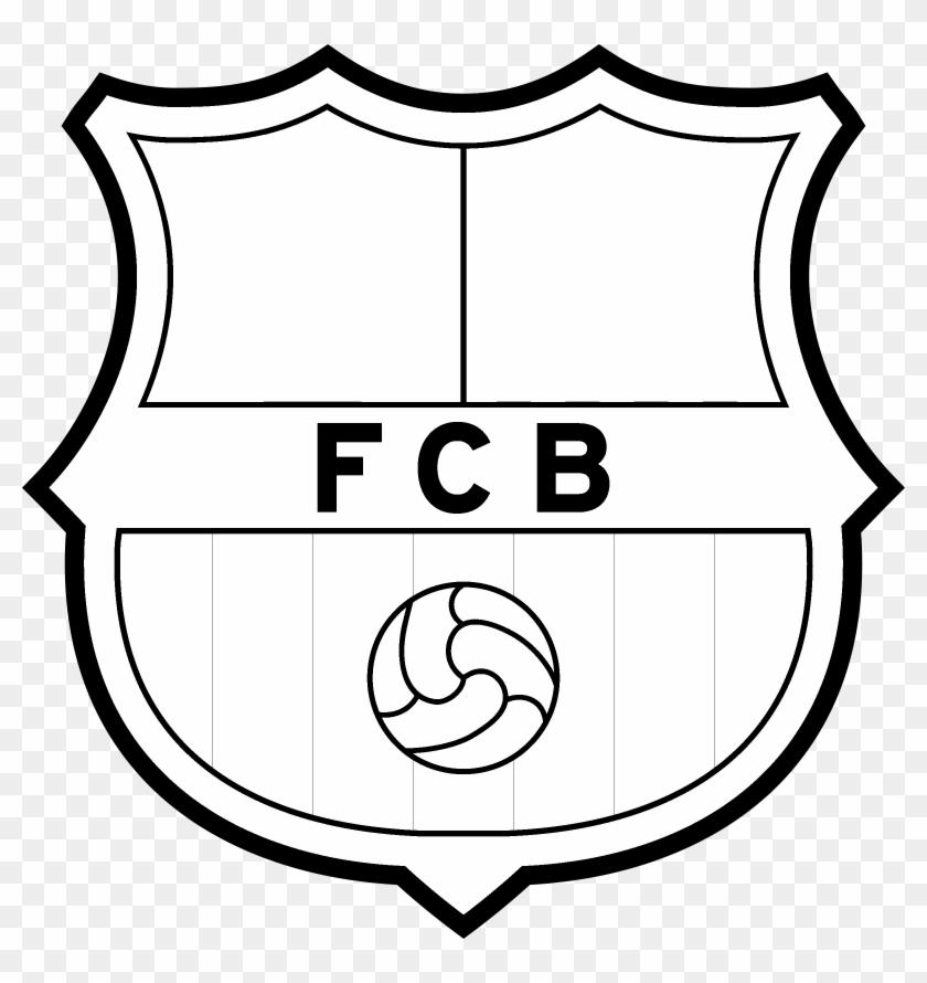 Fc Barcelona Logo Black And White Escudo Del Barcelona Para