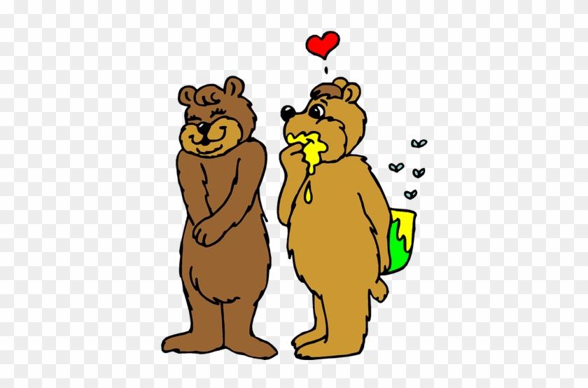 Valentine's Day Free Clip Art - Honey Love Bear #1128201