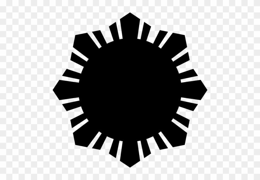 Philippine Flag Sun Symbol Black Silhouette Vector Philippine
