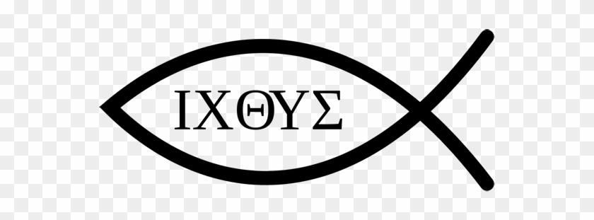 The Symbol Of A Fish Is Sometimes Used By Christians - Ichthys Jesus #1130027