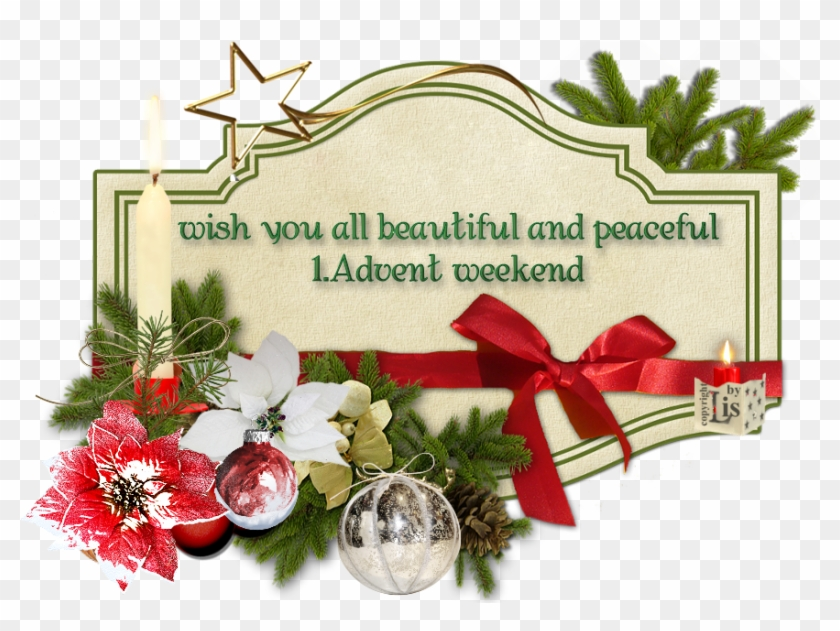 1 advent weekwnd by lis merry christmas greeting cards