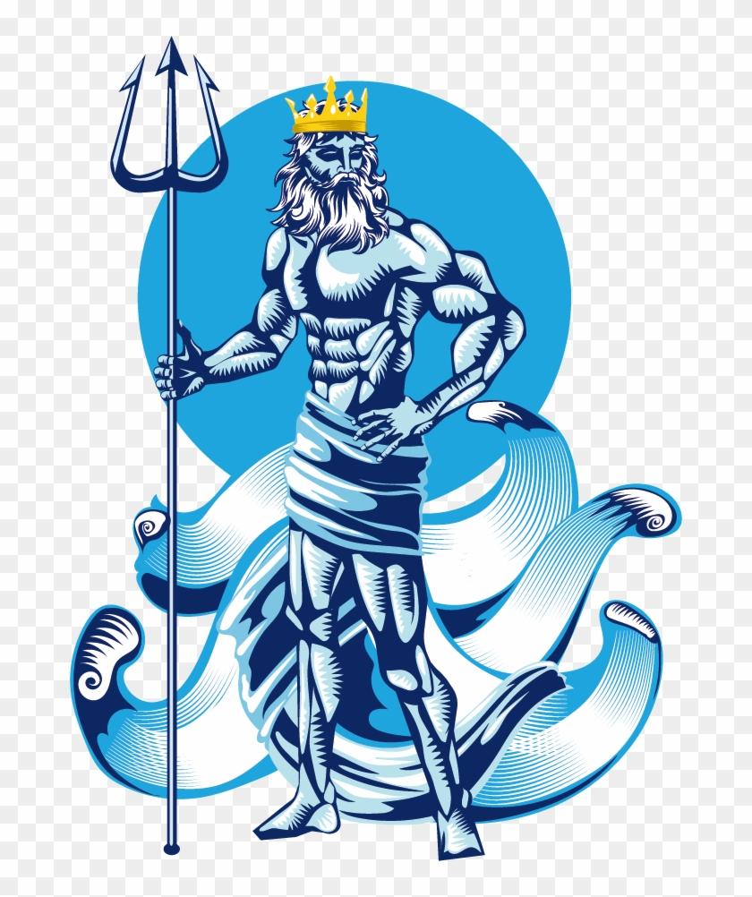Poseidon Greek Mythology Clip Art - Greek Mythology Poseidon Png #1131000