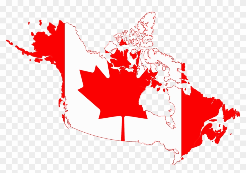 File Flag Map Of Canada And United States American - Canada Flag Map ...