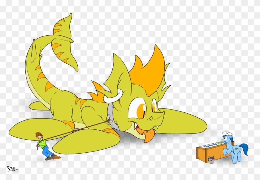 Fandroit, Cute, Fish, Giant Pony, Human, Hybrid, Kitchen - Cartoon #1132215