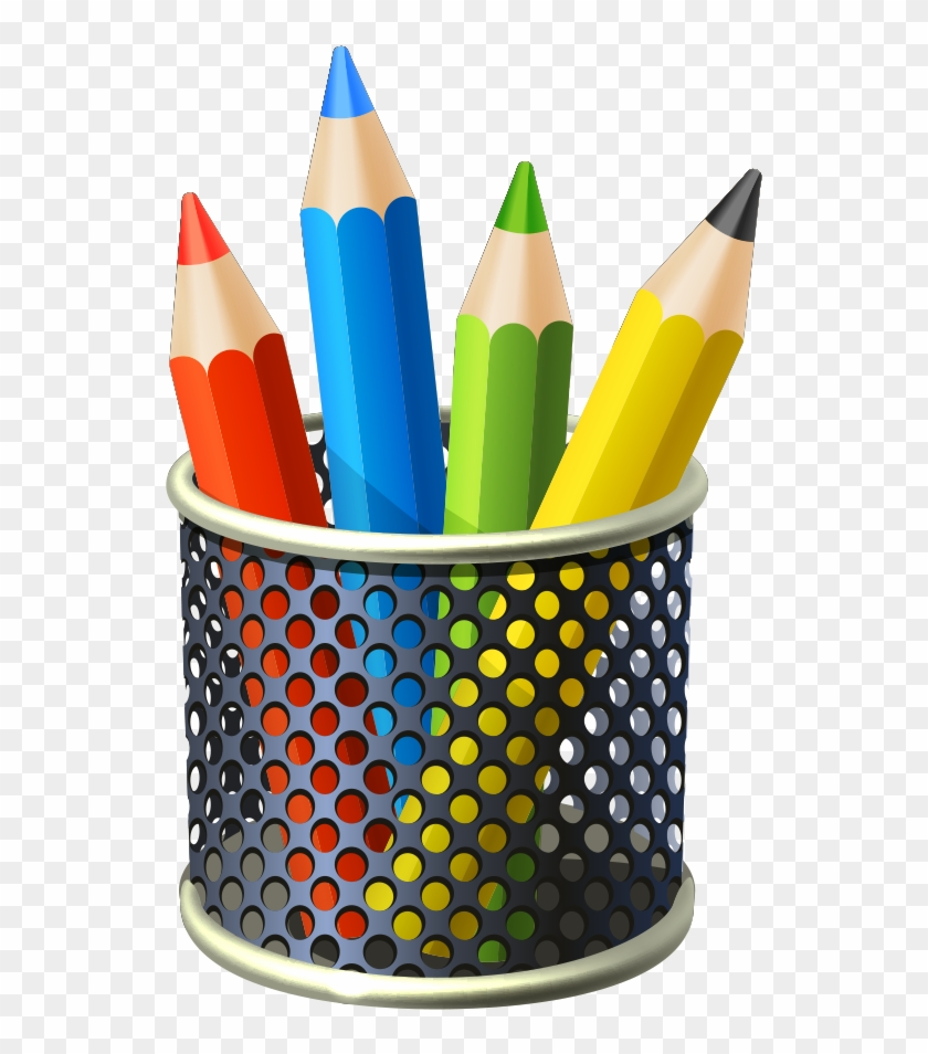 Brush Pot Pencil - Cartoon Pencil Pot #1132544