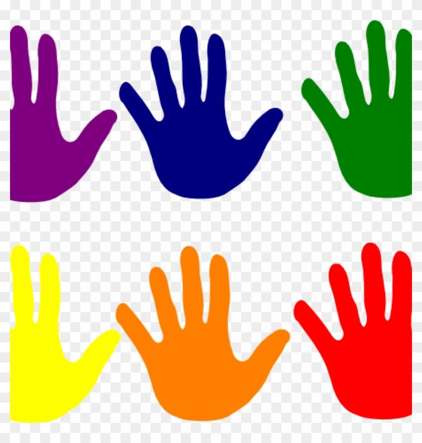 handprint clipart hands various colors clip art at hand print rh clipartmax com Handprint Clip Art Black and White Baby Handprint Clip Art