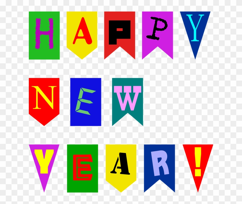 Happy New Year Banner Clip Art - Happy New Year Banner Printable #1133328