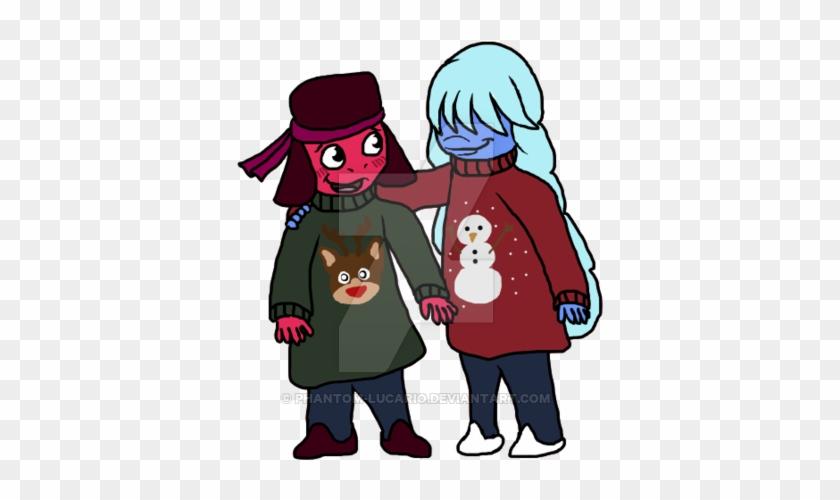 Ugly Christmas Sweater Cartoon.Ugly Christmas Sweaters By Gamerfeline Cartoon Free