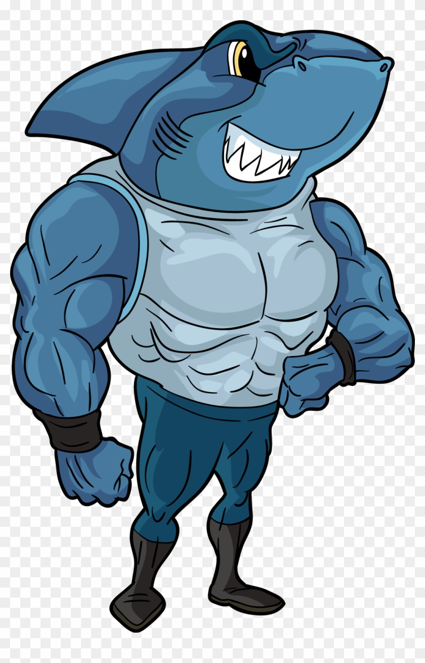 Cartoon Shark Shark With Legs And Arms Free Transparent Png Clipart Images Download