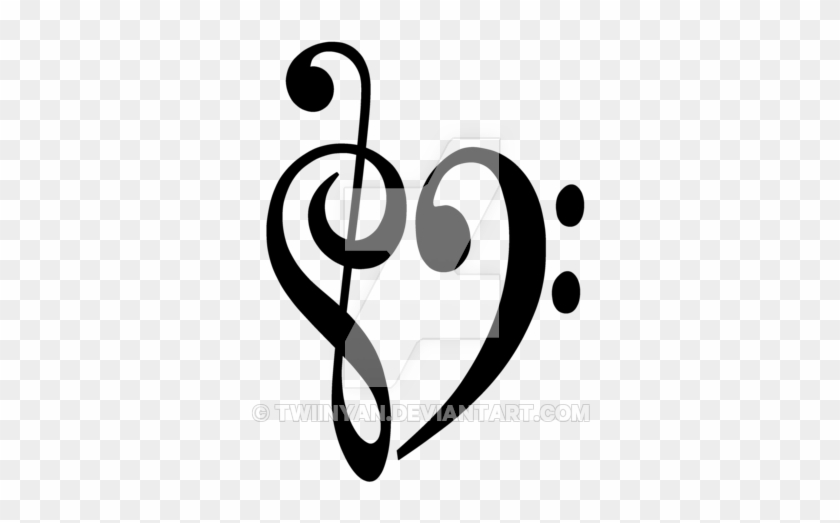 Bass Clef Treble Clef Heart Clip Art Png Transparent Image Provided -  EpiCentro Festival