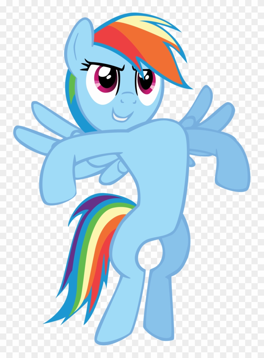Falxor, Bipedal, May The Best Pet Win, Puffed Chest, - My Little Pony Rainbow Dash Standing #1134781