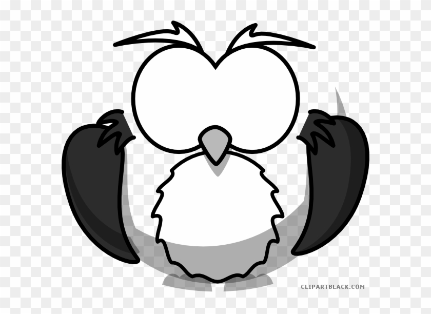 Owl Animal Free Black White Clipart Images Clipartblack Cartoon