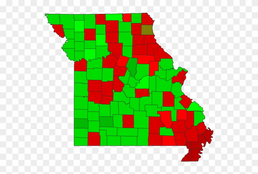2016 County Township Map - Missouri 2016 Presidential Election ...